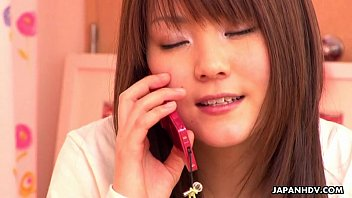 youporn sexy Japanese girl having phone sex
