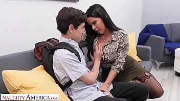 tomodatinpo Naughty America Diamond Kitty fucks student to keep his mouth shut