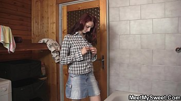 pornmonkey Mature couple and teen in the bathroom