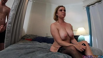 groupsex Peeping stepson gets caught while masturbating by horny stepmom