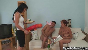 hdpornz Cock hungry mother-in-law jumps on his cock