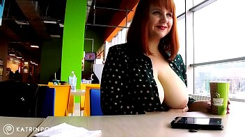 spikespen Katrin Porto - Flashing Big Tits and Hairy Pussy In The Mall