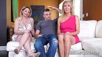 toujizz MILF Erica Lauren fucks her stepson and stepdaughter