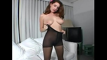 forcesex Brte with big tits rubbing her pussy in nylon