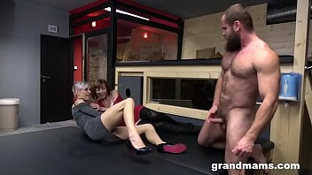 tubxporn Two Grannies One Muscle Man