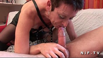 timtales French mature in stockings deep throat fucking and hard banged