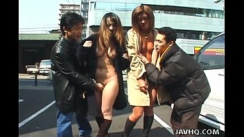 fulanax Two wild Asian girls walking naked in public
