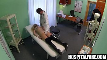 assoass Blonde patient sucks cock while getting ing a fast surgery deal with the doctor