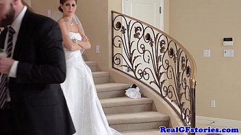 xxxvdo Stunning bride facialized by her Photographer