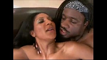 Black horny wife fucks young man