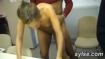 swallowsalon BBC for 2 Secretaries in office before anal orgy in shop for 3 MILFs