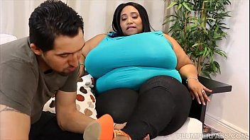 timtales Ebony SSBBW Cotton Candi Slurps and Sucks on Latino Stud