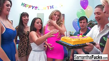 hqcollect Samantha celebrates her birthday with a wild crazy orgy