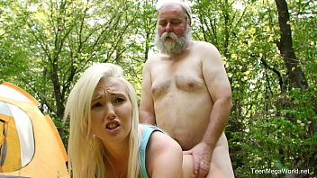 Old-n-Young - Lovita Fate - Mushroom hunter picks up blonde pussy