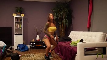 purnhub Felicity Feline Strip Tease Dancing and Stretching Flexible Fitness babe