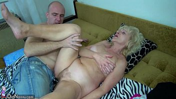 grandparentsx Old chubby Granny in the bed has sex with horny man