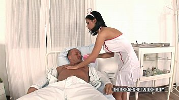 hot8pack01 Slutty nurse Black Angelika fucks in the hospital bed