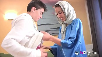 lilushandjobs We surprise Jordi by gettin him his first Arab girl Skinny teen hijab