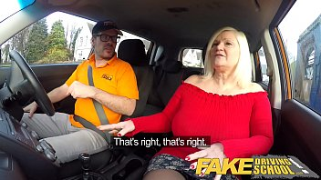 vlxx com Fake Driving School Busty mature MILF sucks and fucks lucky instructor