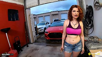 moniqueeass Roadside - Braceface Redhead Fucks To Get Her Car Fixed