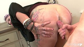 naughty com Tattooed stepmom fucks a younger guy
