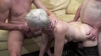 bilatinmen Old woman makes a threesome with her nephew and her father