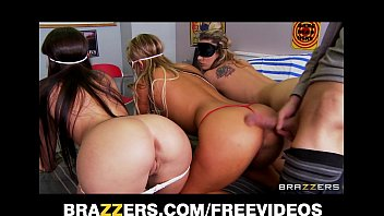 tny4k Three big booty teens are blindfolded and fucked in an orgy