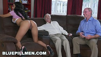 narutoxxx BLUE PILL MEN - A Couple Of Old Men Have Fun With Young Black Goddess Aaliyah Hadid