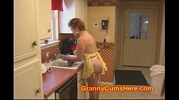 xvedios2 Granny Slut FUCKED in her KITCHEN by BBC