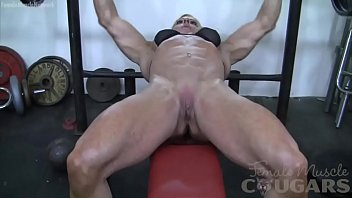 hubporn Female Bodybuilder Lacey Works Out And Masturbates