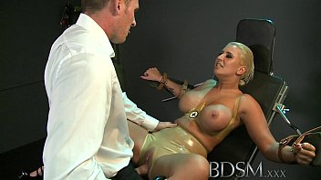 pirngub BDSM XXX Big breasted sub has her hole filled by Strong dominant Master