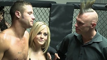 titjob MMA fight cage fuck with blonde pornstar Alexis Texas