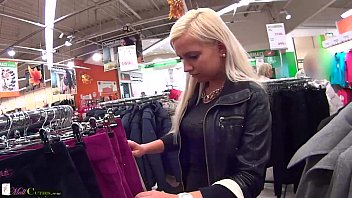schnuggie91 Two girls on public have sex for shopping free