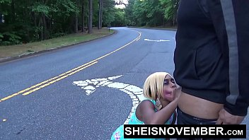 www phonerotica com Msnovember Sucking Cock In Road Sloppy Blowjob Ebony Teen