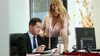 shysub0413 Busty office secretary banged over the table