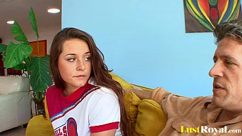 cumperfection Wild Talia Palmer distracts her angry daddy