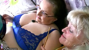 deepthroat Chubby granny and old granny masturbating