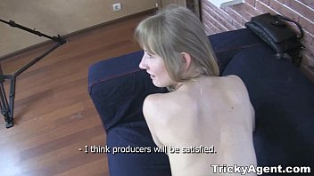 pornhu Tricky Agent - A blond student Sonja teen-porn is looking for some cash