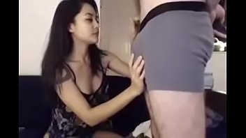horrorporn Seira sucking and kissing my white cock