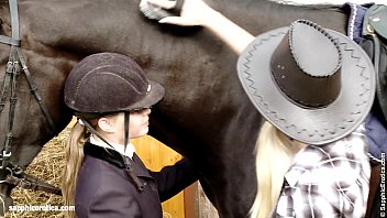 xxarxx a and Mya go down on each other at the horse ranch by Sapphic Erotica