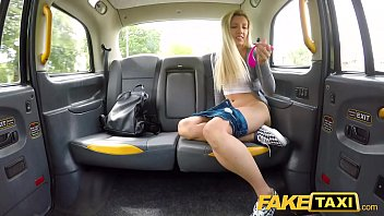 boobstube Fake Taxi Hot blonde Sophia Grace sex toy turns on in cab