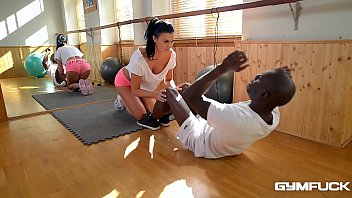 prontube Ultra Fit nympho Jasmine Jae Fucked In Interracial Training Session