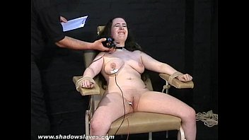 xxnxx com Electro tortured bbw in harsh stool bondage and severe suffering of fat slave