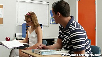 chatpov InnocentHigh Cute teen rides cock in the classroom