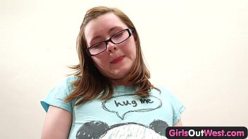 ujiz Girls Out West - Plump amateur cutie toys her hairy snatch