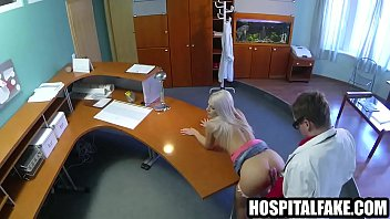 pornhop Blonde sucks cock and gets fucked hard by her dn doctors receptionist desk 720 2