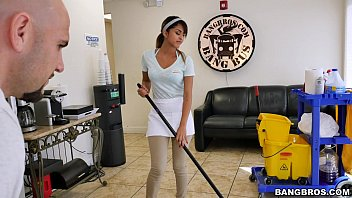 tube8 BANGBROS - The new cleaning lady swallows a load