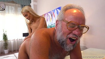 sisterxxx Chary Kiss and her a much older lover - Grandpas Fuck Teens