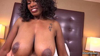 eporne Curvy Ebony Milf Has All Natural Big Black Tits in her First HD POV Fuck Film