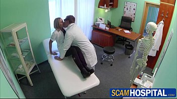 yesporn Sexy blonde nurse Nancy gets to grip a cock with her pussy lips